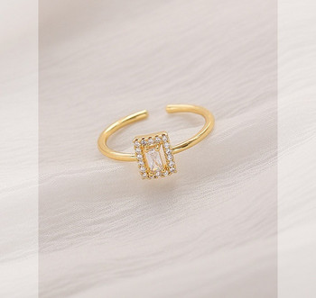 Стилен дамски тънък пръстен с камък