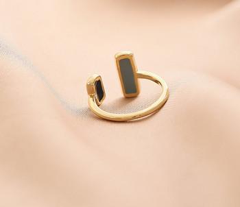 Стилен дамски тънък пръстен с камъни