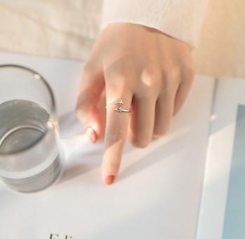Актуален дамски тънък модел пръстен