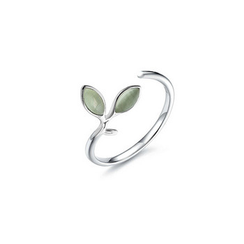 Актуален дамски тънък пръстен с камъни