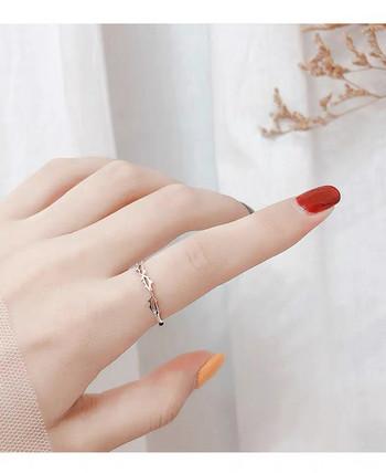 Елегантен дамски тънък модел пръстен