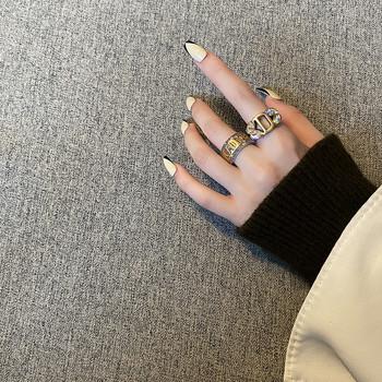 Актуален дамски широк пръстен в два модела