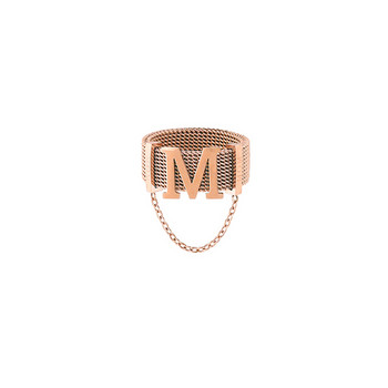 Дамски актуален пръстен с метален елемент