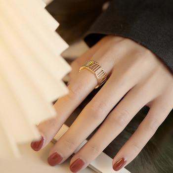 Широк модел дамски модерен пръстен