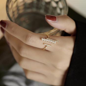Дамски пръстен с декоративни перли