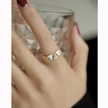 Широк модел дамски стилен пръстен