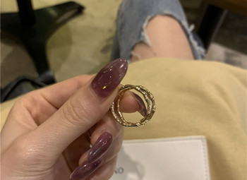 Широк модел дамски изчистен пръстен