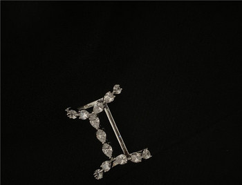 Стилен дамски ежедневен пръстен с декоративни камъни