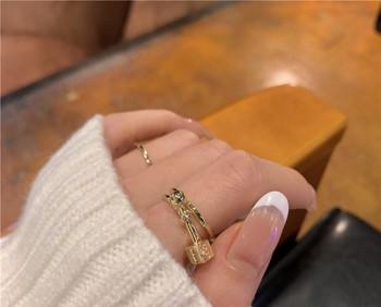 Модерен дамски пръстен широк изчистен модел
