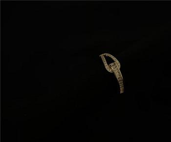 Дамски ежедневен пръстен изчистен модел с камъни