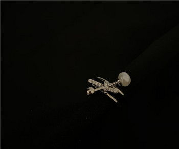 Дамски актуален пръстен в два модела с декоративна перла