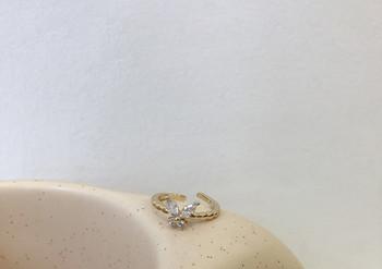 Дамски тънък пръстен с декоративни камъни