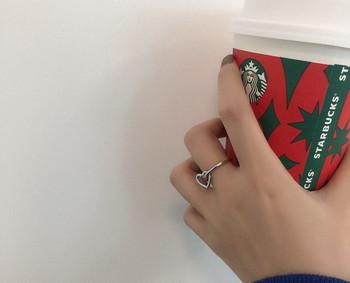 Дамски ежедневен пръстен тънък модел със сърце