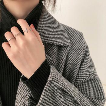 Дамски комплект от четири пръстена изчистен модел