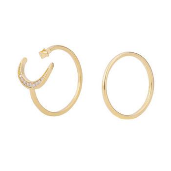 Комплект от два дамски пръстена с камъни