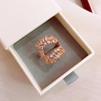 Дамски стилен пръстен широк модел