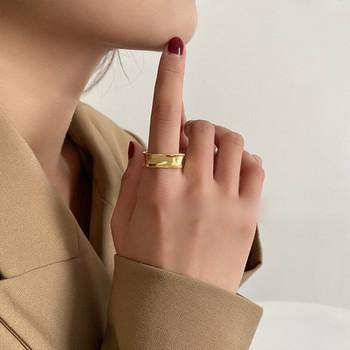 Дамски ежедневен пръстен изчистен широк модел