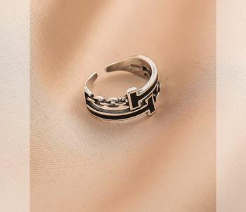 Дамски пръстен широк модел