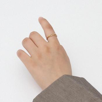 Стилен дамски пръстен тънък изчистен модел