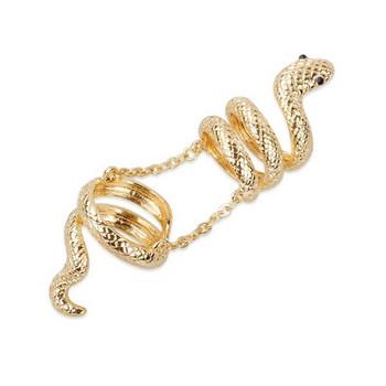 Актуален дамски пръстен с верижка