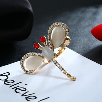 Дамски пръстен с декоративни камъни