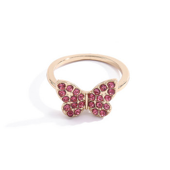 Актуален дамски пръстен с пеперуда