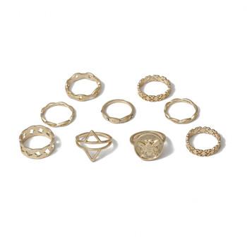 Модерен дамски ежедневен комплект от девет пръстена