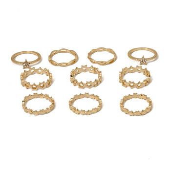Дамски ежедневен комплект от пръстени изчистен модел