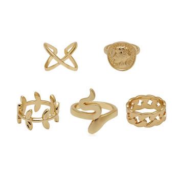 Ежедневен комплект от пет дамски пръстена