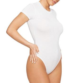 Нов модел дамско боди с къс ръкав и обло деколте