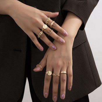Комплект от пръстени изчистен модел