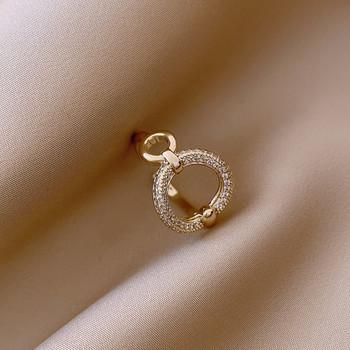 Дамски ежедневен пръстен в кръгла форма