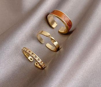 Ежедневен комплект от три дамски пръстена