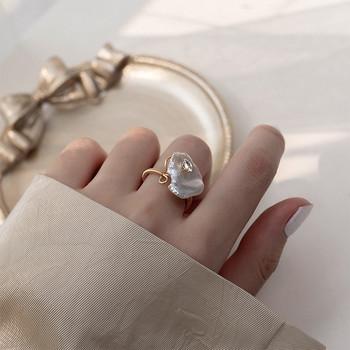 Модерен дамски пръстен изчистен  модел
