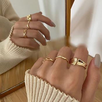 Μοντέρνο σύνολο τριών γυναικείων δαχτυλιδιών κλασικό μοντέλο
