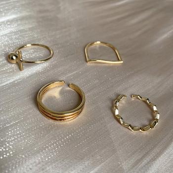 Γυναικείο καθημερινό σετ από τέσσερα δαχτυλίδια