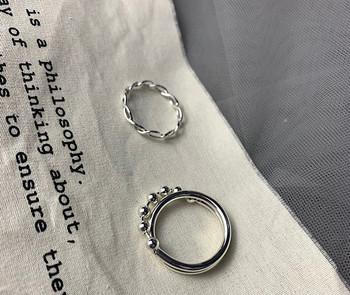 Καθημερινό σετ γυναικείο με δύο δαχτυλίδια - κλασικό μοντέλο
