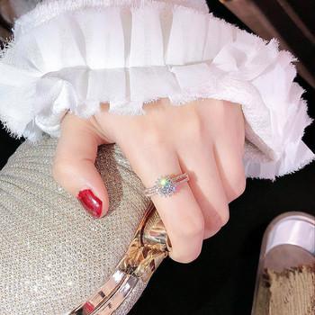 Κομψό γυναικείο δαχτυλίδι με αστέρι και διακοσμητικές πέτρες