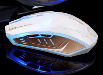 Геймърска мишка за компютър имитираща маската на Iron Man