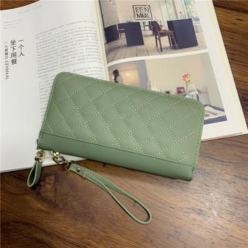 Μοντέρνο γυναικείο πορτοφόλι από οικολογικό δέρμα με φερμουάρ