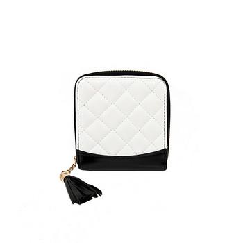 Γυναικείο μικρό πορτοφόλι από οικολογικό δέρμα με φούντα