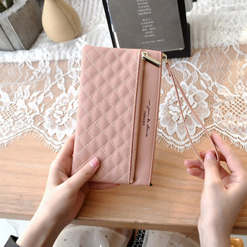 Γυναικείο πορτοφόλι με φερμουάρ - οικολογικό δερμάτινο