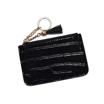 Γυναικείο μοντέρνο πορτοφόλι από οικολογικό δέρμα με μενταγιόν