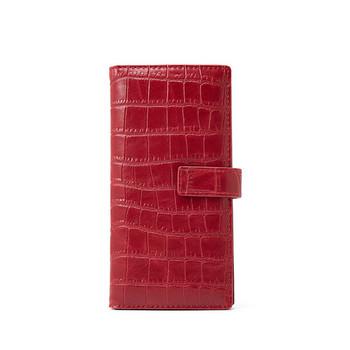 Γυναικείο πορτοφόλι μονόχρωμο με μεταλλική στερέωση