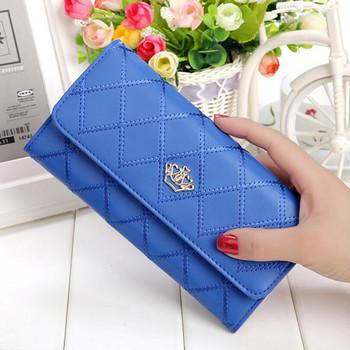 Νέο γυναικείο πορτοφόλι με μεταλλικό στοιχείο