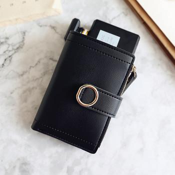 Μοντέρνο έκο δερμάτινο πορτοφόλι με τσέπη με κέρματα