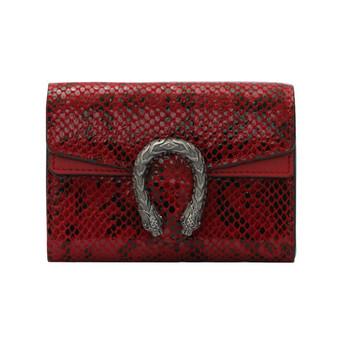 Γυναικείο έκο δερμάτινο πορτοφόλι με μεταλλική διακόσμηση και άνιμαλ πριντ