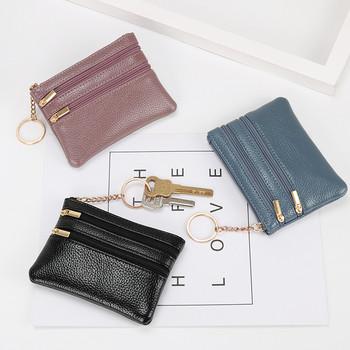 Μικρό πορτοφόλι από οικολογικό δέρμα με θήκη νομίσματα