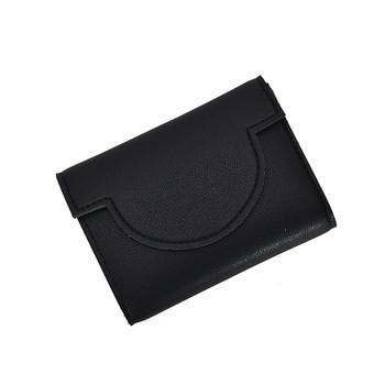Έκο δερμάτινο πορτοφόλι νέου μοντέλου σε μαύρο και κίτρινο χρώμα