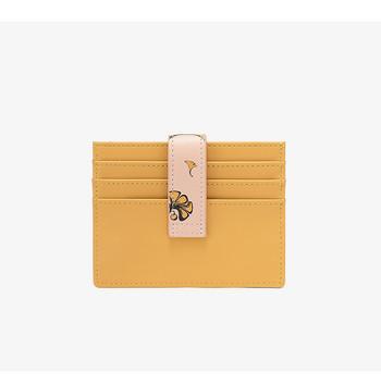 Μικρό δερμάτινο πορτοφόλι για κέρματα και χρεωστικές κάρτες